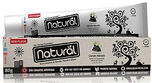 Creme Dental Natural  com Carvão Ativado, extratos de Bambu, Romã e Sálvia - Orgânico natural