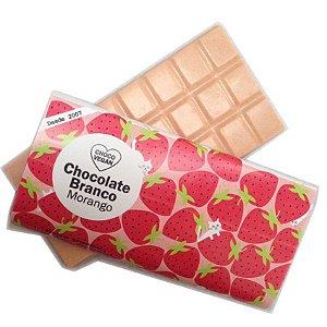 Chocolate Branco com Morango - ChocoVegan