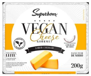 VEGAN CHEESE GOURMET CHEDDAR 200G - SUPERBOM