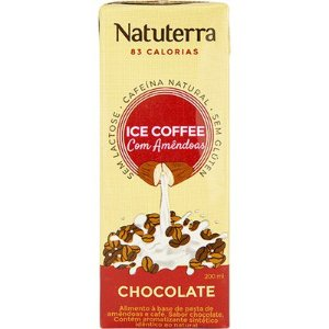 Café Gelado com Bebida de Amêndoas Sabor Chocolate 200ml - NATUTERRA