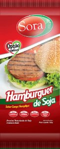 Hambúrguer Vegetal Sabor Carne Vermelha 110g - Sora