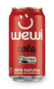 Refrigerante Wewi Cola Orgânico Lata 350ml - Wewi