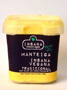 Menteiga tradicional 220g - Insana Vegana