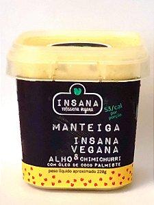 Manteiga de alho e chimichurri 220g - Insana Vegana