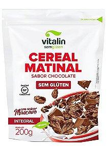 Cereal Matinal Sabor Chocolate sem glúten 200g - Vitalin