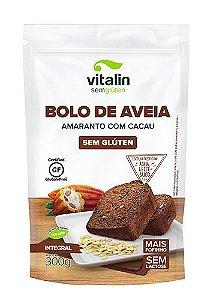 Mistura para Bolo de Aveia Amaranto com Cacau 300g - Vitalin