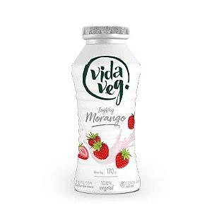 Iogurte de coco com morango 170g - Vida Veg