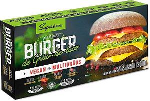 Burger vegano de grão de bico 360g - Superbom