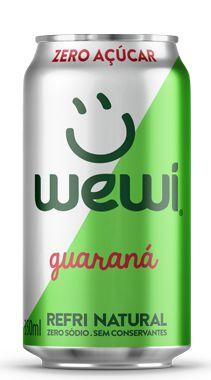 Refrigerante Wewi Guaraná Zero Açúcar Orgânico Lata 350ml - Wewi