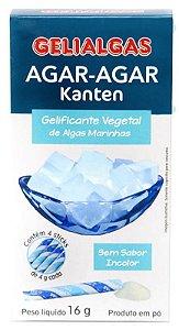 Agar-agar Kanten Gelatina Vegetal em Pó 16g - Gelialgas