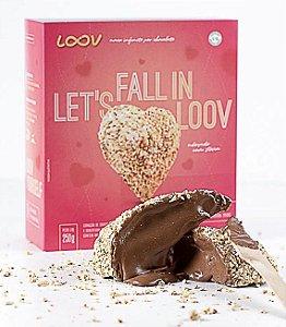 Coração de gianduia loov 250g - chocolife