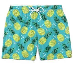 Short bermuda abacaxi moda verão primavera pineapple praia summer