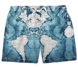 Short Praia bermuda mapa mundi tumblr moda masculino azul bebe