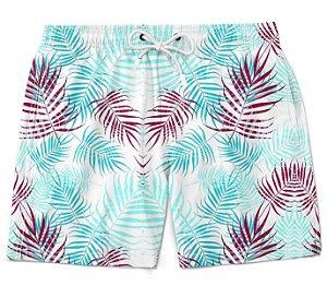 Short Praia bermuda folhas tropical florido tumblr moda masculino