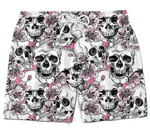 Short Praia bermuda caveira tropical florido tumblr moda masculino