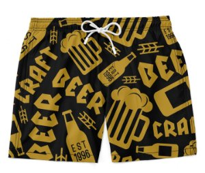 Short Praia bermuda beer craft tumblr moda praia masculino