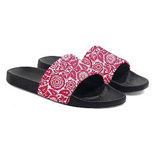 Chinelo floral primavera slide benassi feminino sandália