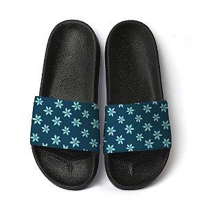 Chinelo floral marinho slide benassi unissex sandália moda