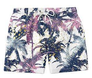 Short Bermuda Coqueiros Tropicais