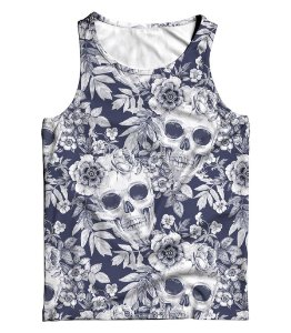 Regata Full 3D Summer Floral Skull