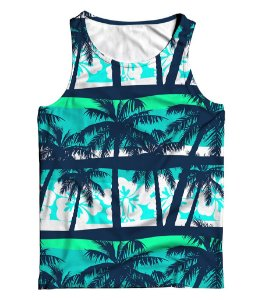 Regata Full 3D Summer Beach Coconut Tree