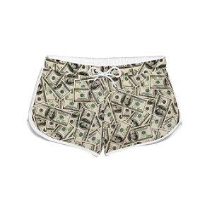 Short Feminino Tropical Verão Dólar