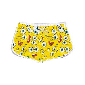Short Feminino Verão Square Pants