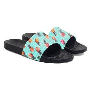 Chinelos slide benassi unissex Tropical Pineapple