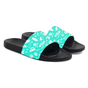 Chinelos Slide Benassi Unissex Tropical Wake Wave