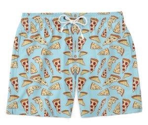 Bermuda Short Praia Summer Pizza