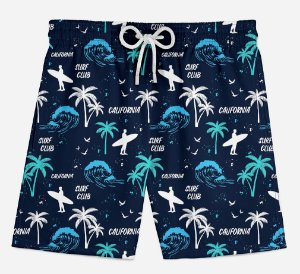 Short Praia Infantil Surf Club