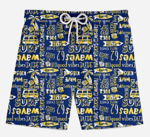 Short Praia Infantil Surf Waves