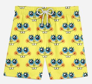 Short Praia Infantil Square Pants