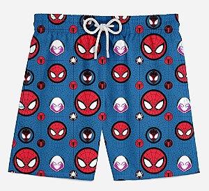 Short Praia Infantil Spider Man