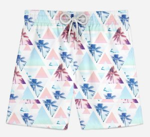 Short Praia Infantil Tropical Surf