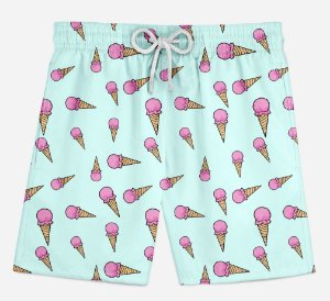 Short Praia Infantil IceCream