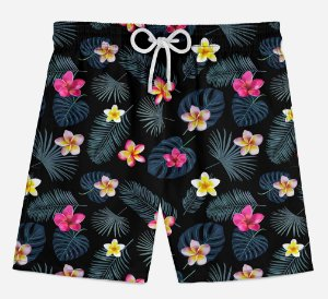 Short Praia Infantil Little Flowers