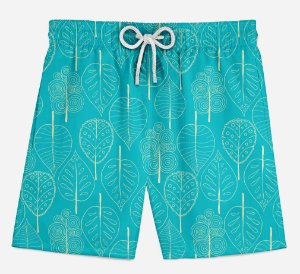 Short Praia Infantil Tropical Basic