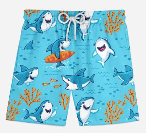 Short Praia Infantil Tubarão