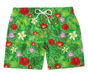 Bermuda Short Praia Verão Flowery