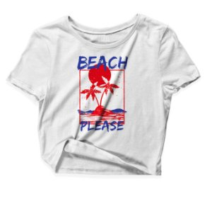 Camiseta Cropped Beach Please