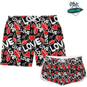 Kit Casal Short Love