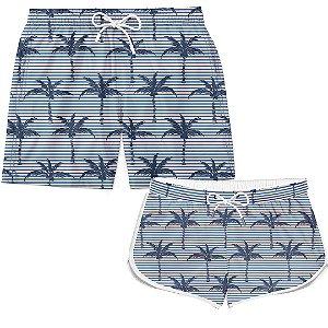 Kit Casal Short Palm Trees