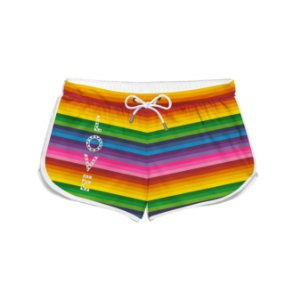 Short Feminino Praia LGBT Love