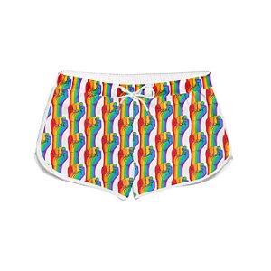 Short Feminino Praia LGBT Luta