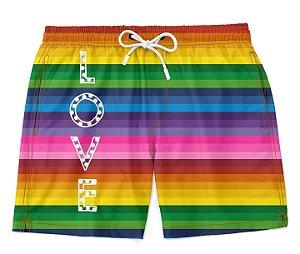 Bermuda Short Praia LGBT Love