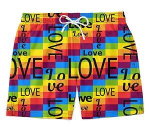 Bermuda Short Praia Love LGBT