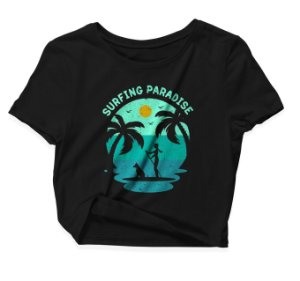 Camiseta Cropped Surfing Paradise