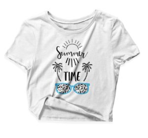 Camiseta Cropped Summer Time