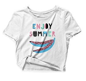 Camiseta Cropped Enjoy Summer